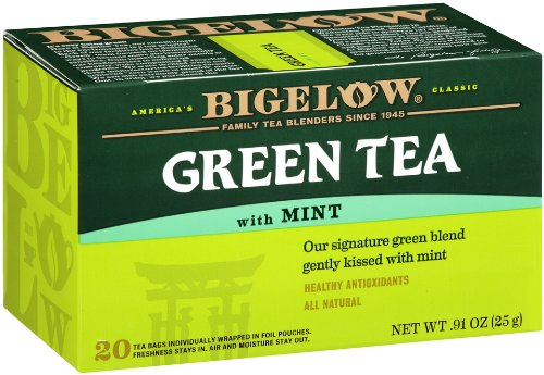 Bigelow Green Tea With Mint, 20-Count Boxes (Pack Of 6) front-202386