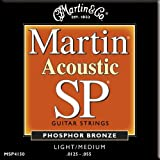 Martin MSP4150 SP Phosphor Bronze Acoustic Guitar Strings, Light-Medium