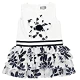 boboli, 721303 - Vestido Lino Combinado, color blanco, talla 3(98cm)