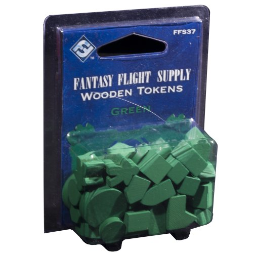 Fantasy Flight Supply: Wood Tokens: Green