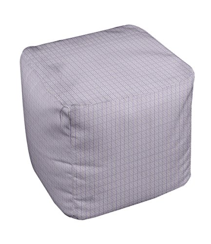 E by design Geometric Pouf, 13-Inch, Paloma Heather - 1