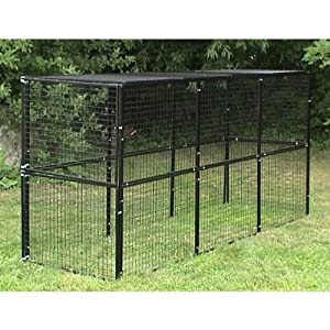Options Plus Bronze Series 4x12x6 foot Kennel with Top Panels