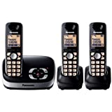 Panasonic KX-TG6523EB DECT Trio Digital Cordless Phone Set with Answer Machine - Blackby Panasonic Phones