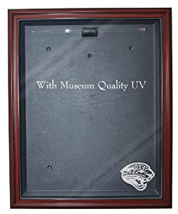 NFL Jacksonville Jaguars Cabinet Style Jersey Display - Mahogany with Museum Quality... by Caseworks