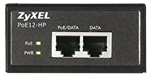 ZyXEL - PoE12-HP - 802.3at Stromversorgung / Injektor (bis zu 30 Watt) über Ethernet-Kabel (10/100/1000Base-T)