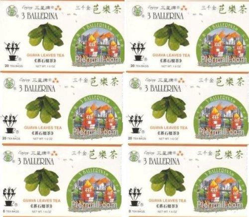 3 Ballerina Guava Leaves Tea 20 Tea Bags Value Pack (6 Boxes)