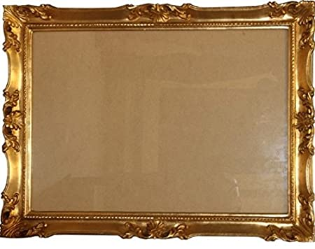 Casa Padrino Baroque wooden picture frame 144 x 84 cm Gold - Big Photo Frame Art Nouveau Antique style - Made in Italy