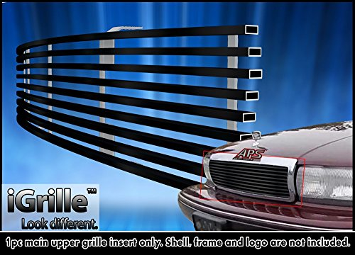 Black Stainless Steel eGrille Billet Grille Grill For 91-96 Chevy Caprice Insert (92 Chevy Caprice Grill compare prices)