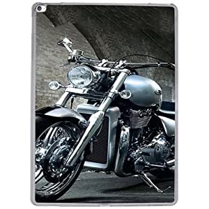 Casotec Motorcycle Design 2D Hard Back Case Cover for Apple iPad Pro 12.9 Inch - Clear