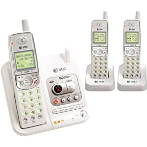 AT&T EL42308 5.8 GHz Cordless Phone with Three Handsets and Answering System