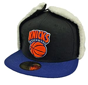 New Era 59Fifty Dog Ear New York Knicks Black & Blue Fitted Cap by New Era