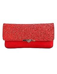 Craftstages Ethnic Designer Jute Sling Bag For Women (Material: Suede, Colour: Red)