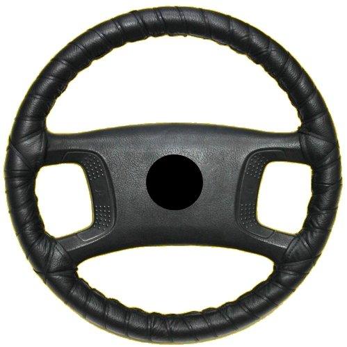 Aerzetix-Couvre-volant--lacets-Taille-M-37-40-cm-NOIR-en-cuir-vritable