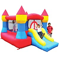 Castle Inflatable Bounce House w/ Slide (12' x 9') from Kidwise