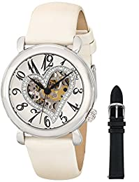Stuhrling Original Women's 109SW.1215P2 Aphrodite Delight White Leather Watch