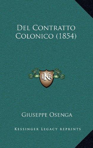 del Contratto Colonico (1854)
