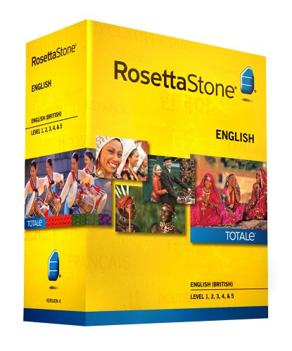 Learn English: Rosetta Stone English (British) - Level 1-5 Set (Download Code Included)