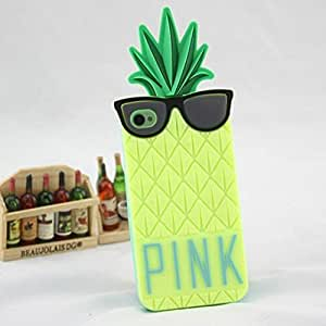 Victoria Fashion Pink Soft Silicone Fruit Pineaple Back Case Cover For Iphone 6 4.7 Inch