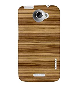 printtech Wooden Design Back Case Cover for HTC One XT / HTC 1X