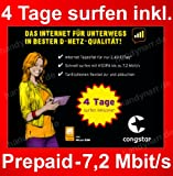 Congstar Prepaid Surf SIM inkl. 4 Tage graits surfen für Tablet, Netbook o. Stick