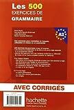 Image de Les 500 Exercices de Grammaire A2 - Livre + corrigés intégrés