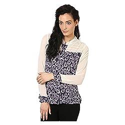 Kaxiaa Polyester Purple Top For Women (Size-Medium)