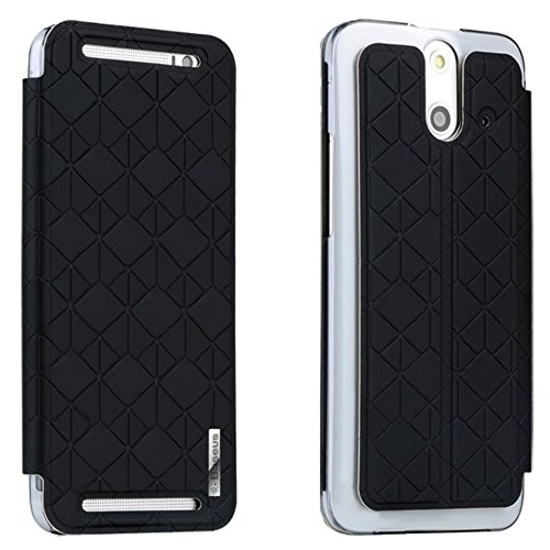 Baseus Brocade Leather Stand Flip Case Cover For Htc One E8 Black