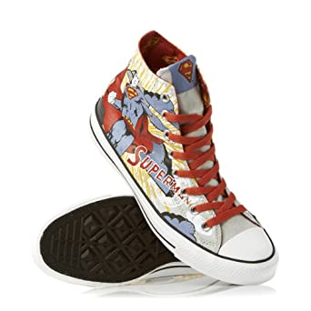 Converse CT Hi Superman Cloud Grey Canvas Trainers-UK 3