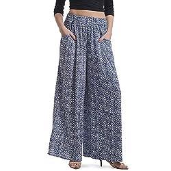Stoee Women Blue Polyester Pallazo ( Large_ Blue )