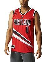 adidas Camiseta sin mangas Portland Trail Blazers Lillard (Rojo / Negro / Blanco)