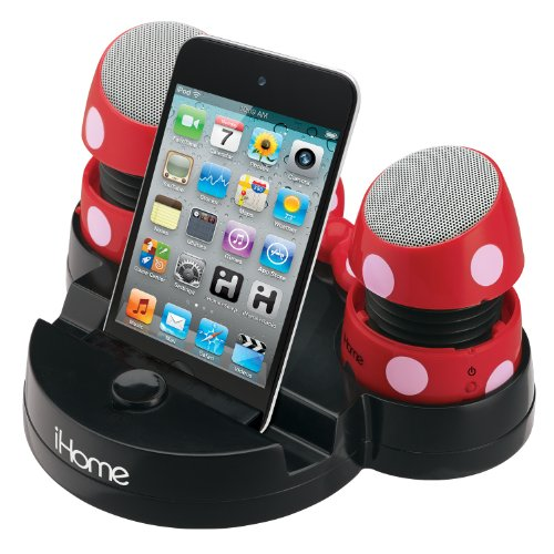 Ekids Minnie Rechargeable Mini Stereo Speakers For Ipods, Laptops And Iphones, By Ihome - Dm-M793