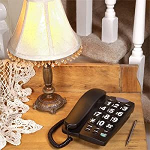 Big Button Corded Speakerphone with 13 Number Memory (Black)