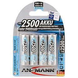 Ansmann 5035442 MAX-E+ AA 2500mAh Rechargeable NiMH Batteries (4-Pack)