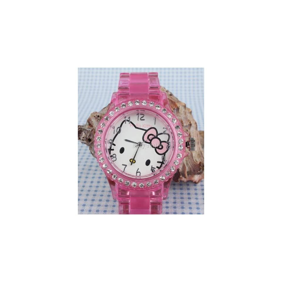 Miss Peggy Jos  Hello Kitty Link Bracelet Watch Yk49 pka Quartz and a Hello Kitty Necklace***face Is About the Size of a Half Dollar