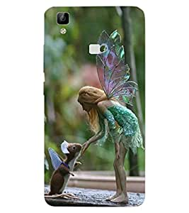 ColourCraft Angel and Friend Design Back Case Cover for VIVO V3 MAX