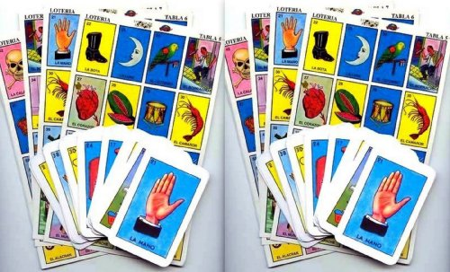 2 X Authentic Mexican Loteria Bingo Chalupa Game: 20 Boards + 2 Deck Of 54 Cards - 1