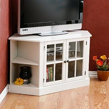 Thomas Corner Media Stand - White