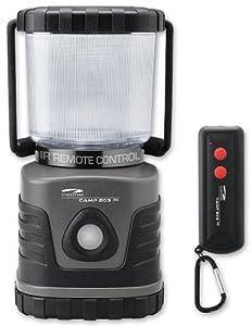 Litexpress Camp 203RC grau/schwarz, Camping-Laterne mit Fernbedienung, 4 Nichia Hochleistungs-LED bis zu 300 Lumen, Kunststoffgehäuse, Leistungsangabe nach ANSI-Standard
