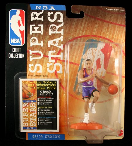 JASON KIDD / PHOENIX SUNS * 98/99 Season * NBA SUPER STARS Super Detailed Figure, Display Base & Exclusive Upper Deck Collector Trading Card