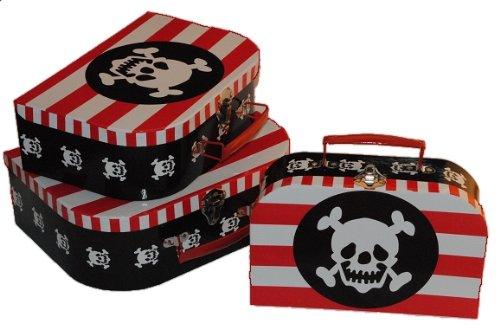 3 tlg. Set - Kinderkoffer in 3 Größen ! Pirat