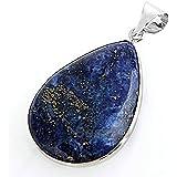 "FACILLA® Lapis Lazuli Gemstone Gem Necklace Pendant 1.42x1.02"" HOT"
