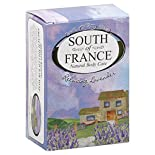 South of France Bar Soap, French Milled, Relaxing Lavender, 2 - 4.25 oz (120 g) bars 8.5 oz (240 g)