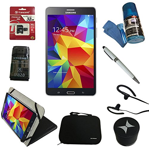 Click to buy Samsung Galaxy Tab 4 7-inch 8 GB Tablet (Black) + 8 Piece Accessory Kit ... - From only $7.99