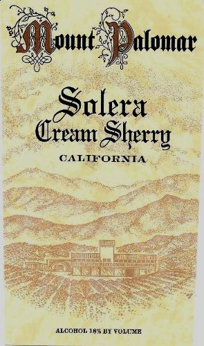 Nv Mount Palomar Solera Cream Sherry 500 Ml