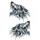 GGSELL Halloween Tattoo für Männer und Frauen 2 Ferocious Wolf