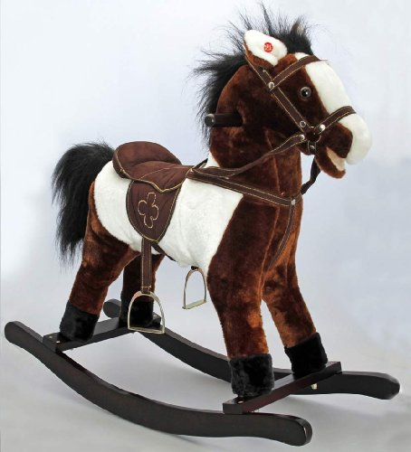 Keel Rocking Horse With Sound Dark Brown