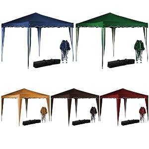 tente pliante 3x3 m tonnelle pavillon jardin pliable bleu sac de transport cuisine. Black Bedroom Furniture Sets. Home Design Ideas