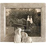 Creative Co-Op DA6892 Sand Color Resin Framed Photo Frame With Rabbits, 5 By 7 By Creative Co-op