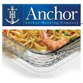 Anchor Hocking 4 Piece Basketweave Design Ovenware Set