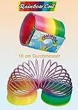 Ressort magique jumbo XXL plastique multicolore arc en ciel - Jouet rainbow coil